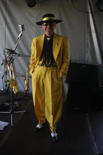 Suited and booted in yellow